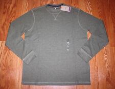 NWT Mens Bass Green Thermal Long Sleeve Winter Shirt Sz XL X-Large $50