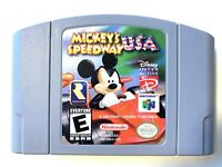Mickey's Speedway USA NINTENDO 64 N64 Game Tested WORKING Authentic!