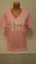 NIP Victoria's Secret PINK V-Neck Tee Shirt Pink M