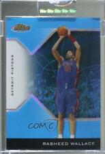 2004-05 Topps Finest Blue Refractor /50 Rasheed Wallace #36