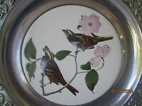 Vintage John James Audubon Plate Robin Leaves Print 10 3/4 Inches Diameter