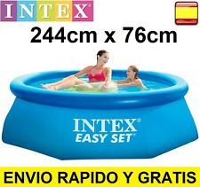 "Piscina hinchable INTEX 244cm x 76cm - 8"" x 30"" 2.44m  EASY SET"