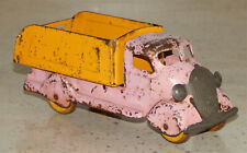 Vintage Marx Pressed Steel Pink Yellow Easter Stake Truck Wyandotte Wood Wheels