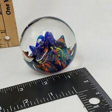 Art Glass Coral Reef Fish Aquarium Sculpture Paperweight