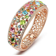 Gemstone Bracelet Christmas Wedding Gift Luxury Rose Gold Rainbow Sapphire Ruby