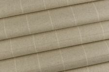2.10m Laura Ashley 'Elmore Check' in Linen FR Upholstery Fabric