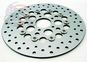 """Brand New 11.5"""" Polished Stainless Steel SS Front Brake Disc Rotor Harley Models"""