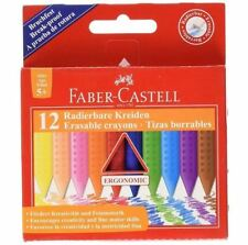 Faber-Castell Grip Erasable Plastic Crayons, 12 Pack