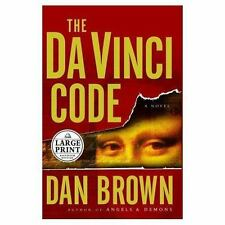 The Da Vinci Code by Dan Borwn (2003 Large Print Hardback/Dust Jacket) Euc