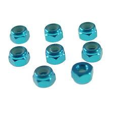 Stoppmuttern 8x blau Alu eloxiert Nylock M3 Stoppmutter selbstsichernd Modellbau