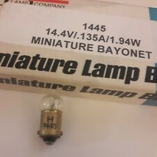 2x #1445 Lamp Mini Bulb Miniature 14.4 volt VINTAGE LIONEL TRAIN & AUTO CLEAR