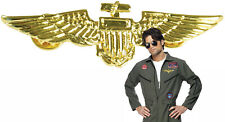 Toy Military Air Force Metal Wings Badge Army Pilot Soldier Costume Aviator Pin