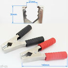 1pair Nickel Plated 140mm 200A Crocodile Car Battery Insulated Test Clip Clamp