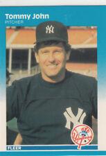 TOMMY JOHN 1987 FLEER GLOSSY #102 NEW YORK YANKEES