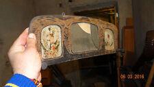 Vintage wooden hanger mirror