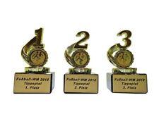 3 Fussball-Pokale für WM-Tippspiele mit Gravur