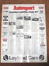 Autosport 1977 INTERNATIONAL COMPETITION CALENDAR - F1 F2 F3 Rally WCM CanAm