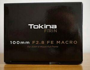 OBJETIVO TOKINA FE 100 MM F2.8 MACRO ( F F ) CÁMARAS SIN ESPEJO SONY A 7