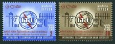 Ceylon 384-385,MNH.Michel 334-335. ITU-100,1965.Communication Equipment.