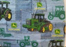 John Deere Fabric Denim Patch Row Crop Tractor Crawler Combine 44 in x 65 in