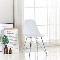 Velari Dining Chair Pearl White Retro Lounge Eiffel Dining Room Restaurant Cafe