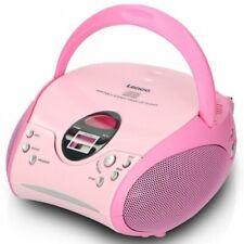 Lenco SCD-24 CD-Player UKW FM Radio Netz & Batteriebetrieb Pink Kinder Akku