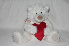 NWT HALLMARK HEARTLY Valentine's Day Stuffed Plush Teddy Bear Sound & Motion Toy
