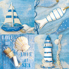 Ambiente Paper Napkins Serviettes Love At Sea Pack of 20 Luxury 3 Ply Nautical