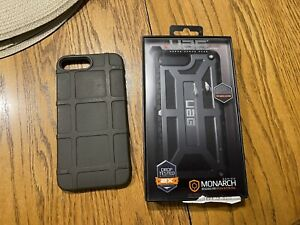 iPhone 6s, 7, 8 plus Phone Case UAG Monarch Leather With Extra Magpul Bump Case