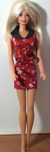 Barbie Style ~ Fashion Avenue ~ Blonde Red Floral Dress ~ 1998