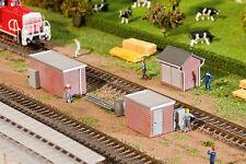 120239 Faller Ho Kit of 3 Brick Transformer Stations - Patinated model - New