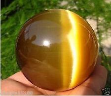 Hot Sell ASIAN QUARTZ TIGER EYE CRYSTAL HEALING BALL SPHERE 40MM + STAND