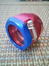 "RADIATOR HOSE CLAMP For 1-1/4"" I.D. Hose 1 ea. Fittings RED/BLUE 4160 Worm Gear"