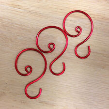 "Red Ornament Hooks, 1 1/8"" to 1 1/4""  length"