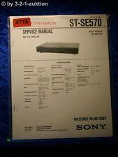 Sony Service Manual ST SE570 FM/AM Tuner  (#4718)