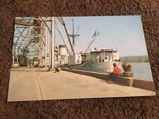 Vintage Postcard Unposted Ship In Port Of Albany New York NY