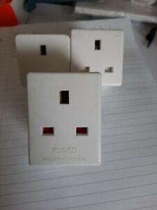 Three X 3 Pin Electric Plugs