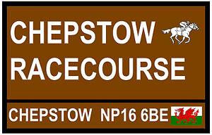 Cavallo Racing - Segnali Stradali (Chepstow) - Souvenir Novità Calamita Frigo -