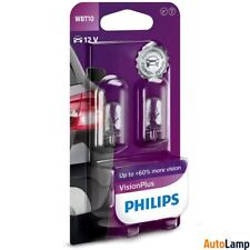 1x WBT10 Vision W6W Plus lamp Scooter HALOGEN 12V 6W W2,1x9,5d PHILIPS 12040VPB2
