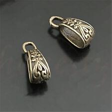 60pcs Plated Tibetan Charm Pendant Bail Connector Beads 17X7mm Necklace Bracelet