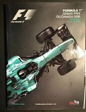 Formula 1 - June 2006 Grand Prix Du Canada Montreal Programme in FRENCH/ENGLISH