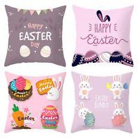 Frohe Ostern Dekor für Haus Kaninchen Eier Kissen Bezug Kissen Bezug FestivaX7M1