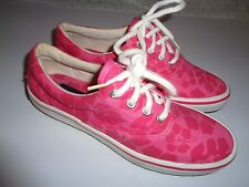 SPERRY-TOP-SIDER -PINK FLORAL CANVAS BOAT-SHOES-6.5M~CLEAN