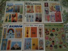 Lot of 6 Vintage 1970's 80's Macrame Books, Macrame, Crafting Pat Depke