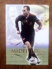 2011 Futera Unique Soccer Card - Spain INIESTA Mint