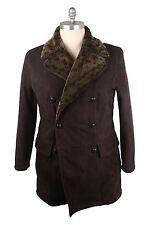 NWT Billionaire Italian Couture 2013 Dark Brown Lammy Coat 46US/56EU MSRP $7500