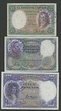 Lote 3 Billetes 25,50,100 De 1931 contramarca resello Republica Muy Raros