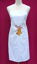 "KNG International ""All Fired Up!"" Embroidered White Barbecue Kitchen Apron"