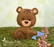 Bear Sewing Pattern - Woodland Stuffed Animal Felt Plushie Pattern & Tutorial