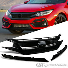 For 16-18 Honda Civic JDM Black 10th Gen Factory Style Front Bumper Hood Gurad